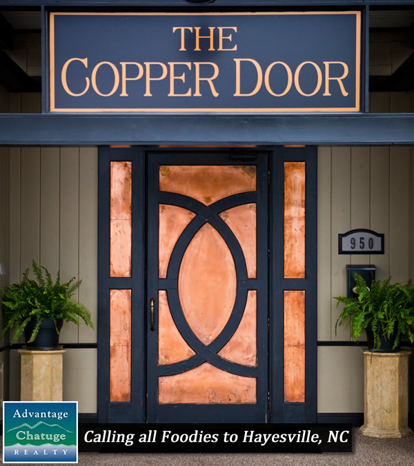 The Copper Door Entrance Hayesville & Calling all Foodies to Hayesville NC